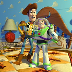 Pixar Animation Studios created Toy Story, the first digitally animated feature film, released in 1995.