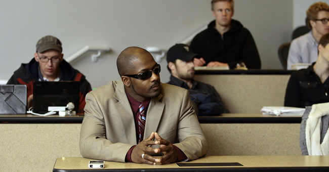Gerald Sanders, an Iraq war veteran and U student, is a business management major.