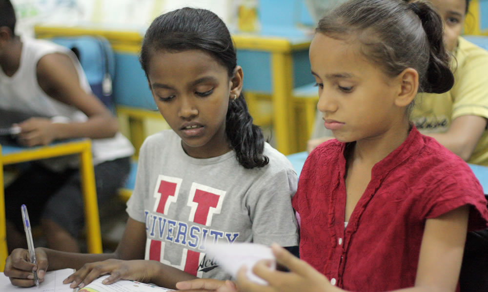 Maitri India runs a school that instructs more than 80 children who range in age from 4 to 17. Many of the children come from families where both parents left school early and work as daily wage earners.