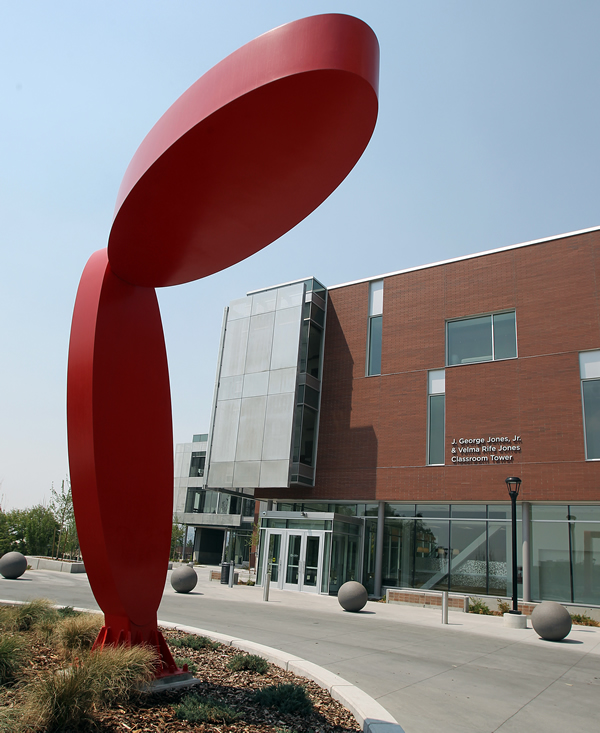 The Beverley Taylor Sorenson Arts and Education Complex, which opened in February, brings together the colleges of Education and Fine Arts under one roof. (Photo by Brian Nicholson)