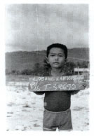 Leang at a refugee camp in Thailand in 1979.