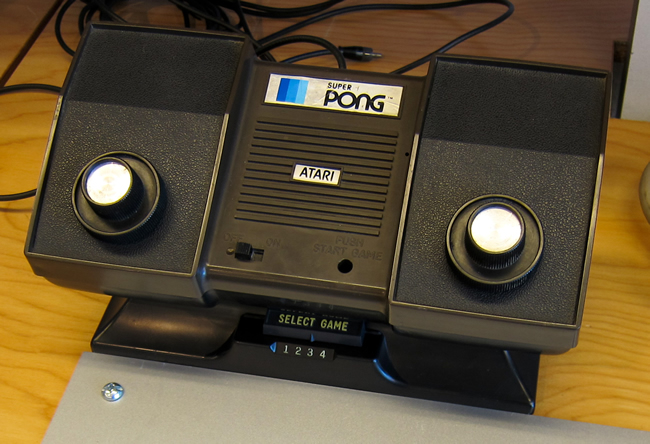 An early Atari console was used with television sets.
