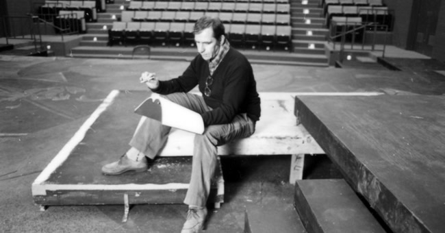 David Kranes directs a production of Harold Pinter's Old Times at the U's Babcock Theatre in March 1984. (Photo courtesy Special Collections, J. Willard Marriott Library, University of Utah)