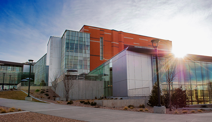 The George S. Eccles Student Life Center is located on the east side of the University of Utah campus, near the Legacy Bridge and Fort Douglas TRAX stop. (Photo by Dave Titensor)