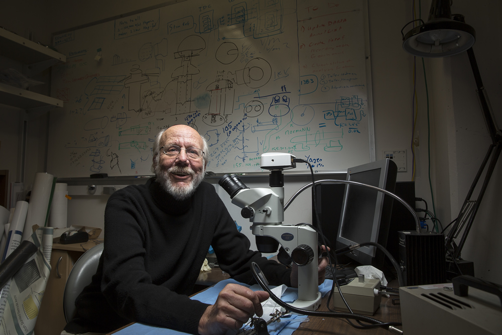 Richard Normann, who was named a University of Utah Distinguished Professor in 2008, has worked at the U since 1979. (Photo by August Miller)
