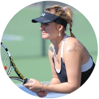 U tennis player Tereza Bekerova.
