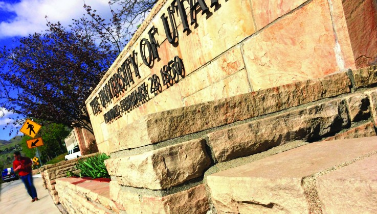 Most of the rock wall that borders the east side University Street from 100 South to near 400 South was built by WPA workers during the Great Depression. (Photo by Photo by Dave Titensor)