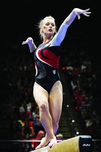 U gymnast Georgia Dabritz (Photo by Russ Isabella)