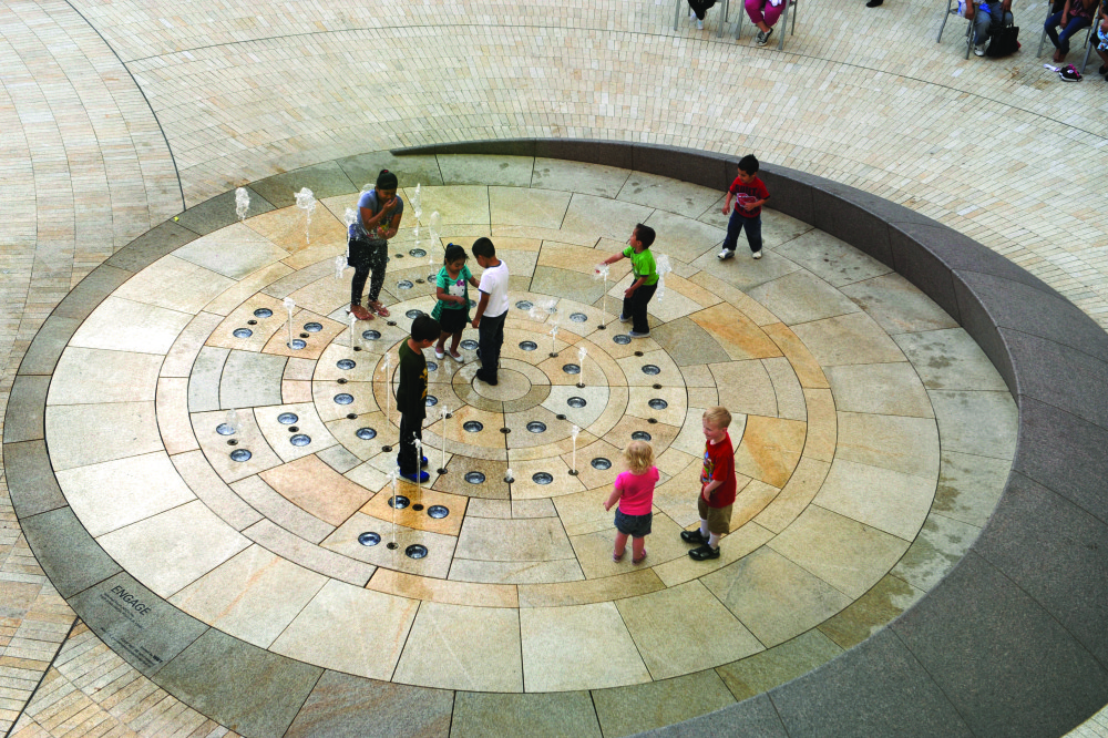 WET's choreographed fountain at the City Creek Center mall in Salt Lake City debuted in spring 2012.