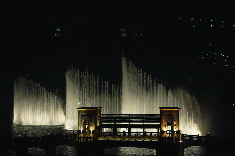 The Dubai Fountain was created by WET in 2009-10 and is considered the world's largest choreographed fountain system.
