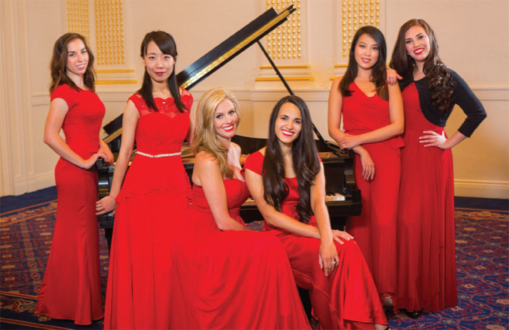 From L to R: Kate Poulton, Ran Duan, Cassie Taylor, Lindsey Wright, Aiting Gao, and Desiree Gonzales