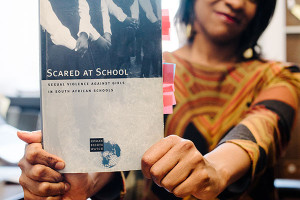 George has received international recognition for her book about sexual violence in South African schools.