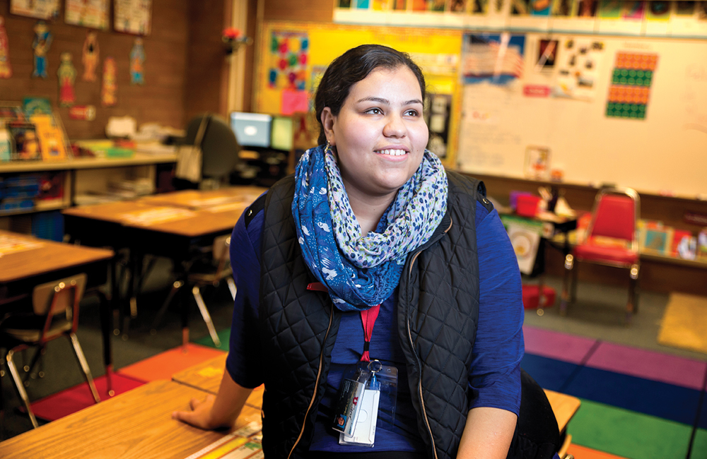 Carmen Flores is gaining experience as a student teacher at Valley Crest Elementary in West Valley City.