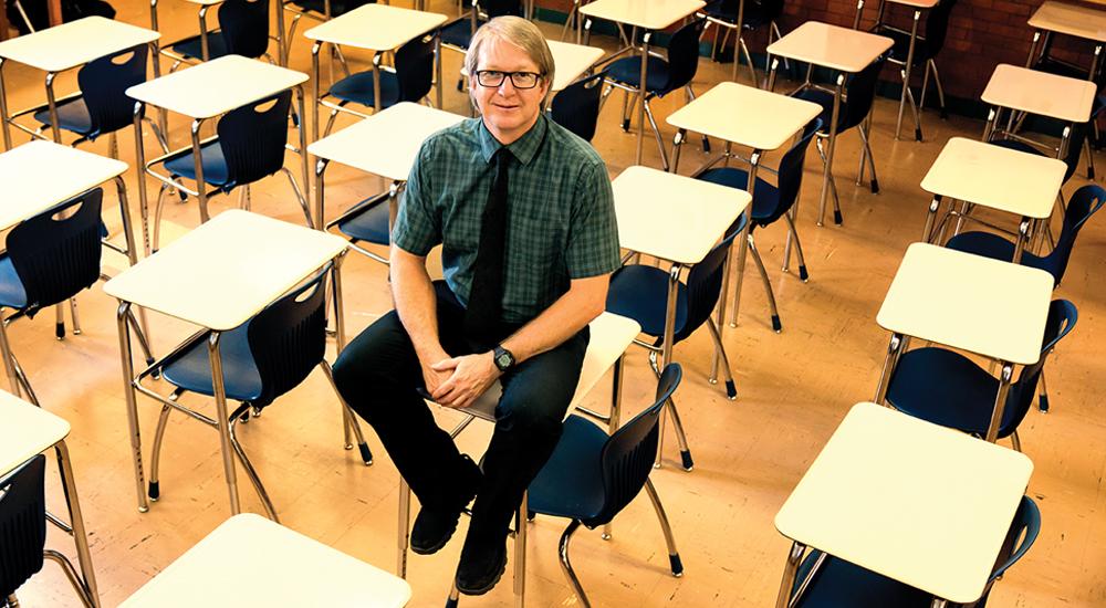 Kyle Bracken, going on 16 years teaching at Salt Lake City's Highland High School.